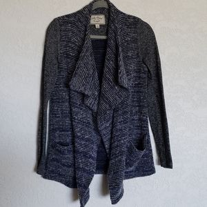 Lucky Brand wool cardigan sz Small blue/grey EUC